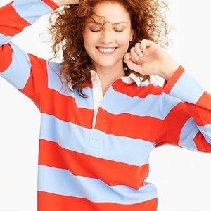 J Crew Women's 1984 rugby shirt in stripe